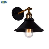 outdoor wall paint - Vintage Iron Black Painted Wall Lamp Bedroom Foyer Warehouse Outdoor Indoor Lighting E27 Lamp Holder V
