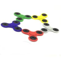 Wholesale Ultimate Abs - ABS Luminous Tri-Spinner Fingertip Gyroscope Ultimate Spin Focus Anti Stress Toy ADHD hand spinner EDC Sensory Fidget Spinners