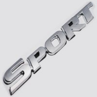 Car Styling 3D ABS Chrome Logo Car Sticker SPORT Emblem Badge Door Decal Auto Acessórios para Toyota Highlander BMW HONDA VW KIA
