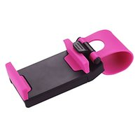 Wholesale phone clip for bike for sale – best Universal Car Steering Wheel Cradle Cellphone Holder Clip Car Bike Mount Stand Flexible Phone Holder extend to mm for iphon