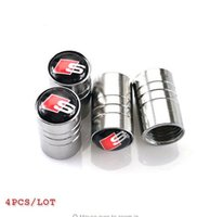Wholesale Sticker For Tire - Car-stying Car tire valves caps for audi a3 a4 b6 a6 c5 b8 a5 q5 b7 accessories car stying