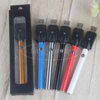 Wholesale Ego Cigarette Button Battery - 510 Vape Pen eGo T 280 mAh E Cigarette Manual Button Batteries Wholesale VS Stylus Vape Pen Battery for ceramic wickless cartridge vaporizer