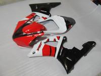 kit de carenagem yamaha r1 branco venda por atacado-Kit de carenagem 7 ganchos para Yamaha YZF R1 2000 2001 vermelho branco preto carenagem conjunto YZFR1 00 01 RT00