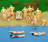 Wholesale Plastic Painted Scale Models - 100 Pcs Scale Model people in swimsuit hand Painted model people for 1:150, 1:100, 1:75, 1:50 scale miniature model making