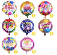 Wholesale Birthday Party Decorations For Children - The new 18-inch round Happy Birthday balloons holiday party decoration balloon toys for children 50 p