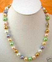 """Wholesale 12mm Multicolor Shell Pearl Necklace - 12mm Multicolor south sea shell pearl necklace 18"""""""