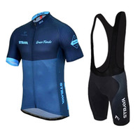 Wholesale Uv Bike Wear - VACOVE Brand New Pro Team Strava Blue Cycling Clothing Quick-Dry Cycle Clothes Mountain Bicycle Wear Ropa Ciclismo Bike Cycling Jerseys Set