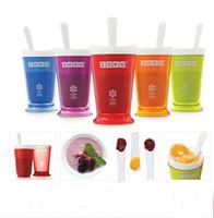 Wholesale Milkshake Cups - 7 5cx Mugs United States Genuine Ice Cup Mini Tumblers Self Made Icecream Bottles Milkshake Cups Fruit Salad Bottle Creative