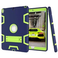 Wholesale Apple Rugged Protection - Three Layers Rugged Case With Hybrid Heavy Duty Protection KickStand for Apple iPad Min 1 2 3 4 5 6 Air Pro 9.7 10.5 with Stand