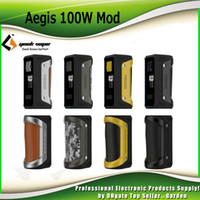 Wholesale Design Cell Battery - Authentic GeekVape Aegis Box Mod 100W TC Waterproof Shockproof Dust-proof Design Supports 18650 26650 Cell Battery 100% Genuine 2230022