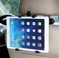 asiento trasero al por mayor-Soporte del soporte del reposacabezas del asiento trasero del coche para iPad 2 3/4 Aire 5 Aire 6 ipad mini 1/2/3 AIR Tablet Soportes para Tablet PC SAMSUNG