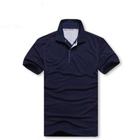 Wholesale British Plaid Shirt - 2017 Europe size Casual polo shirt Men Solid polo shirt brands saints men British polo shirts Small embroidery LOGO cotton Short sleeve men