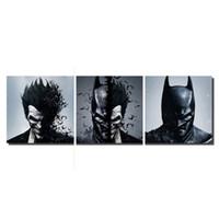 arte da parede da lona da forma venda por atacado-Batman Coringa 3 Peças Modernas Figuras Abstratas Pictures HD Impresso Pintura A Óleo sobre Tela Moda Casa Decoração Da Parede Da Arte