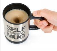 чашка для смешивания напитков оптовых-self перемешивание кофейная чашка автоматическое смешивание кофе чашка чая из нержавеющей стали чашка кофе питьевая чашка кофе кружка