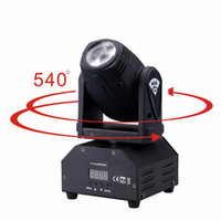 Wholesale dmx led light bar - led 4IN1 mini led spot moving head light Sound activated Mini Moving Head Light DMX dj effect stage lights ktv bar disco