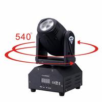 mini escenario de iluminación led al por mayor-Led 4IN1 mini spot led luz de cabeza móvil Sonido activado Mini luz de cabeza móvil DMX dj efecto luces de escenario / ktv bar disco
