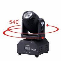 luces mini dmx al por mayor-llevó 4IN1 de la mini llevó el punto en movimiento de sonido luz de la cabeza activa Mini luz principal móvil de la etapa de DMX DJ del efecto barra de luces / discoteca KTV