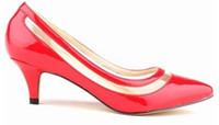 Wholesale Heel Less Platform Pumps - Sexy Pointed Toe Middle Heels Women Pumps Shoes Brand New Design Less Platform Pumps 11 colors US