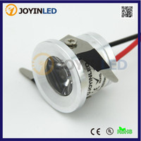 Wholesale Led Cabinet Light Small - Wholesale- Free Shipping 2pcs Lot AC90-260V Mini Led Light 1W LED Recessed Cabinet Counter Small LED DownLights