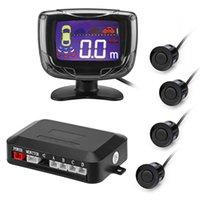 sensor de llegada del coche al por mayor-Nueva Llegada Sensor de Estacionamiento 4 Sensores 22mm Zumbador Pantalla LCD Kit Pantalla de Marcha Atrás Sistema de Monitor de Radar de Respaldo