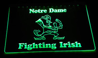 Wholesale irish lights - LS2147-g Notre Dame Fighting Irish LED Neon Light Sign Decor Free Shipping Dropshipping Wholesale 6 colors to choose