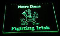 ingrosso g si illumina-LS2147-g Notre Dame Fighting Irish Segno della luce al neon del LED decorazione Dropshipping di spedizione libero del commercio all'ingrosso 6 colori tra cui scegliere