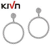Wholesale Christmas Star Stud - KIVN Fashion Jewelry Pave CZ Cubic Zirconia Crescent Moon Star Stud Earrings for Women Birthday Christmas Gift