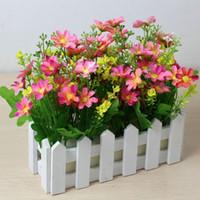 flor artificial valla de madera pastoral florero vertical garden pots jardineros suministros jardn decoracin para el hogar jardn accesorio