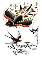 Wholesale Tattoos Images - Wholesale- Free Shipping Body Art Mockingbird Image Bird Tattoo Sticker #r108