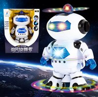 Wholesale Intelligent Toys For Boys - Intelligent Space Dancing Electrics Robot,360 degree rotating light music,Brinquedos Eletronics Jouets toys for Children Boys Kids