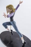 ejderha topu z rakamlar kutusu toptan satış-18 CM Dragon Ball Z Android 18 Lazuli Action Figure PVC Koleksiyon rakamlar oyuncaklar Noel hediyesi için Perakende kutu ile brinquedos
