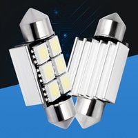 10X36mm 6 SMD 5050 LED CANBUS Erro Free Car License Plate Bulb Dome Festoon frete grátis