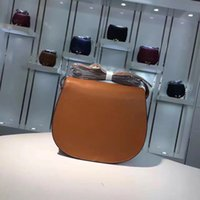 Wholesale U Handbag - New leather embossed leather handbag U leather ornament Shoulder Messenger saddle bag