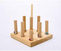 schmuck set stehen großhandel-[Simple Seven] Muji Style Multilayer Ring Set Halter Natürliche Holz Ring steht Schmuck Ring Display Ohrring Halter