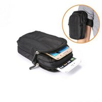 Wholesale Hand Wallet For Mobile - Universal (5.2 inch) Double Zipper Sports Wallet Mobile Phone Bag Outdoor Cover Case for Multi Phone Model Pouch With Hand Shoulder Strap