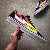 Wholesale Pop Up Black - 2017 Best Seller Kanye West Revenge X Storm Pop-Up Flame Calabasas Stylist Ian Connors Skateboarding Shoes e Authentic Casual Shoes