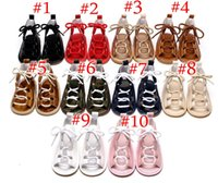 Wholesale Crochet Kids Shoe Patterns - Baby Girls sandals Summer toddler kids flat heels lace-up sandals girls rome sandals baby high gladiator sandal child PU leather shoes