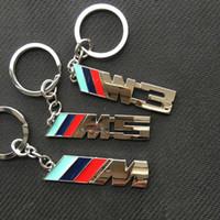 Wholesale Bmw Keychain - M M3 M5 Logo Metal Auto Key Ring Key Chain KeyChain KeyRing KeyHolder Fob For BMW M Series