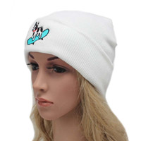 Wholesale Knitted Hats For Dogs - Casual Women's Cotton Hat Skullies Cap Accessories Skateboard Cute Dog Knit Headgear Winter Warm Elastic Beanies Hats for Men