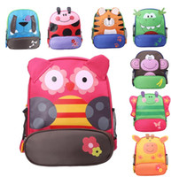 Wholesale Leather School Satchel Kids - Children School Kids Backpacks Animal Pattern Satchels Export Unisex Quality Student Backpacks,Cartoon book bags free Character shpping