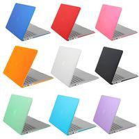 hard case macbook 15 toptan satış-Mat Lastik Hard Case Kapak 2018 Yeni Macbook 13.3 için Hava Pro Dokunmatik Bar 15.4 Pro Retina Dizüstü Tam Koruyucu Kılıfları