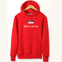 Serbien Flagge Hoodies Nation Team Ripstop-Sweatshirts Land Fleece Kleidung Pullover Sweatshirts Outdoor-Sport-Mantel Gebürstete Jacken