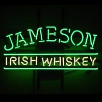 Wholesale Irish Neon Bar Signs - Fashion New Handcraft Jameson Irish Whiskey Real Glass Beer Bar Pub Display neon sign 19x15!!!Best Offer!