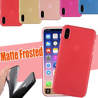 Wholesale Iphone Frosted - 0.3mm Ultra Thin Slim Camera Protection Matte Frosted Clear Transparent Flexible Soft PP Protective Cover Case For iPhone X 8 7 Plus 6S