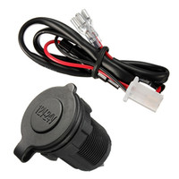 Wholesale 12v Lighter Sockets - Wholesale-Brand New Universal Waterproof Accessory 12v 24V Power Socket Car Van Marine Motorcycle Cigarette Lighter Plug