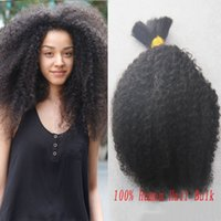 Wholesale Brazilian Vrigin Hair - HOT Sale Brazilian Vrigin Hair Afro Kinky Curly Bulk Hair For Braiding Unprocessed Human Hair For Braiding Bulk No Attachment