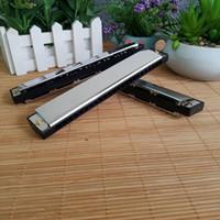 harmonica 24 achat en gros de-Fabricants métal 24 trous à une rangée de cuivre harmonica de base, jouer instrument, science de la sagesse et jouet de l'éducation
