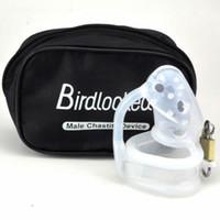Wholesale Male Chastity Device Birdlocked - Wholesale- 2015 New Birdlocked mini silicone CB6000S male chastity CB device chastity belt men chastity device lock rings sex toys