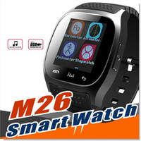 Smart Phone Bluetooth Armband Kaufen -M26 Wirelss Bluetooth Smart Watch Telefon Armband Kamera Fernbedienung Anti-verlorene Alarm Barometer V8 A1 U8 Uhr für IOS Android