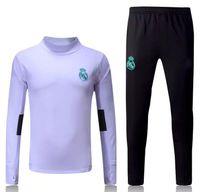 Wholesale Long Jacket Men S Suits - 2017 2018 Real Madrid survetement football tracksuits training suits 17 18 soccer jacket Long pants wear sets RONALDO RAMOS